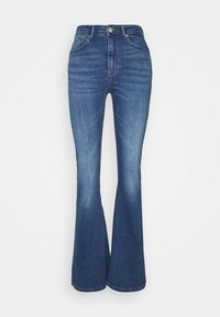 ONLY - ONLPAOLA LIFE RETRO  - Flared jeans - dark blue denim - 4