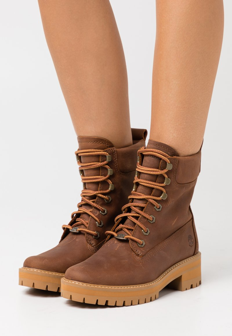 Timberland - COURMA VALLEY BOOT WP - Platform ankle boots - mid brown