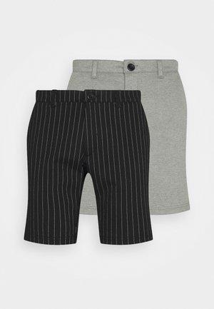 PONTE 2 PACK - Shorts - black/medium grey melange