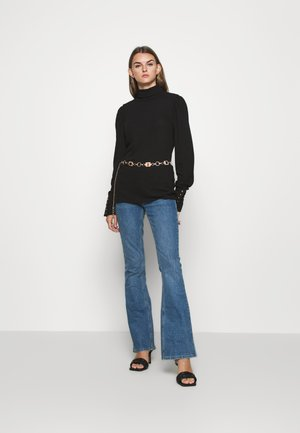 OBJKATRINA RIB TOP TALL - Jumper - black