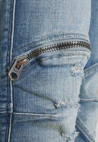 G-Star - 5620 3D ZIP KNEE SKINNY - Jeans Skinny Fit - vintage cool aqua destroyed - 5