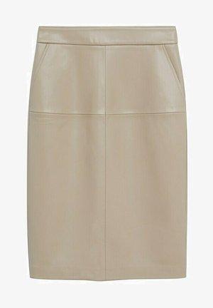 PENCIL - Pencil skirt - beige