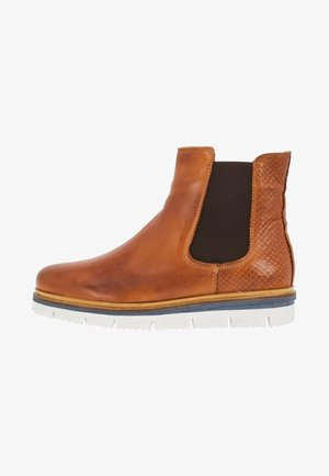 WARM CLEATED CHELSEA - Ankle boots - cognac