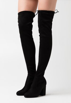 High heeled boots - black