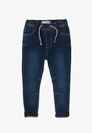 ELASTICATED KNITTED - Slim fit jeans - blue denim