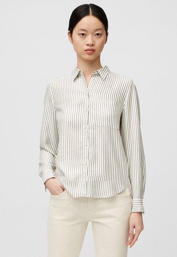 MIT STREIFEN-DESSIN - Button-down blouse - green