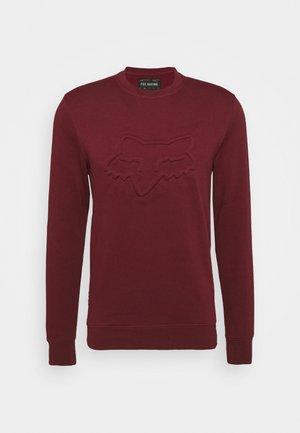 REFRACT CREW - Sweatshirt - cranberry