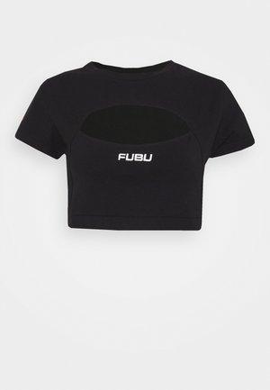 CORPORATE CUTOUT - Jednoduché triko - black