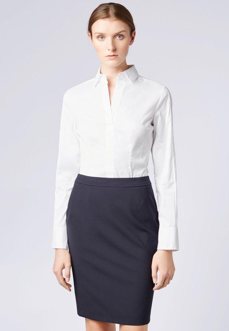 BOSS - BASHINA - Button-down blouse - white