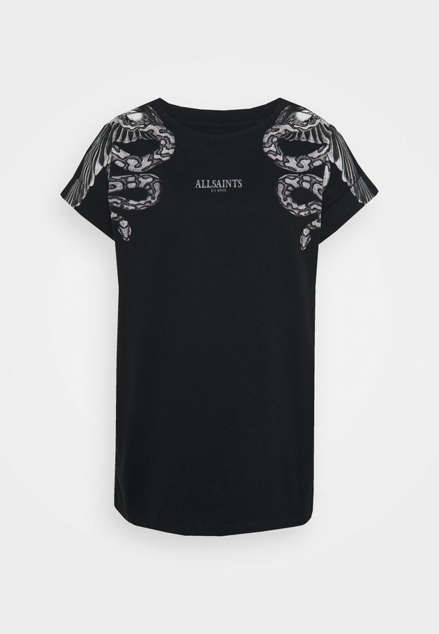 SNAKEEAGLE IMO BOY TEE - T-shirt con stampa - black