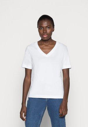 SLFSTANDARD  V NECK TEE  - T-shirt basic - bright white