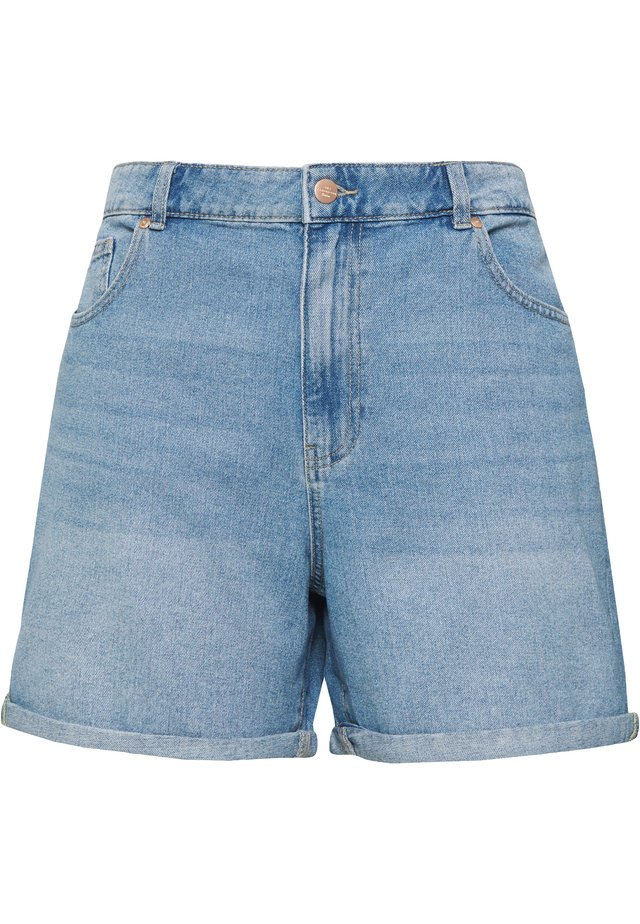 JEANSSHORTS CURVY CARHINE REG - Shorts di jeans - light blue denim