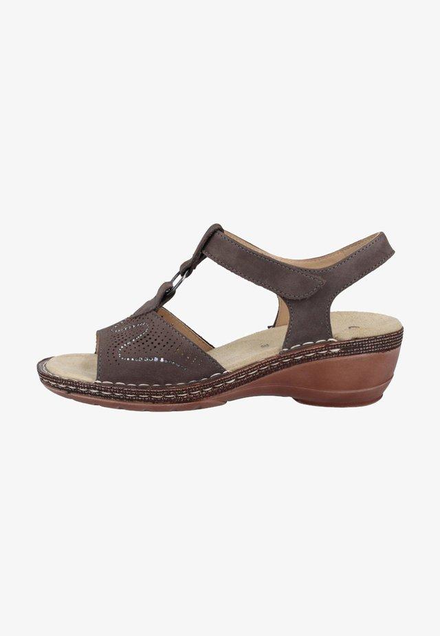 Sandały na koturnie - grey