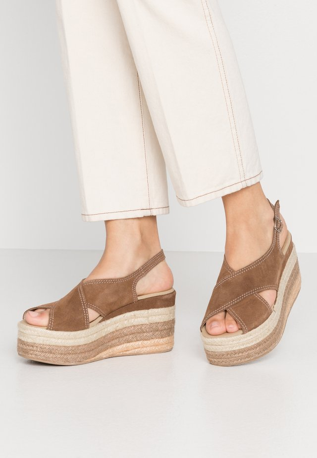 MARSTON - Sandales à talons hauts - taupe