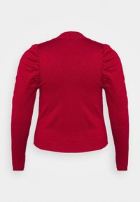 Glamorous Curve - CROPPED JUMPER WITH RIBBED HEMS PUFF LONG SLEEVES - Jumper - scarlet - 1