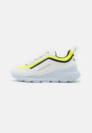 Trainers - neon yellow/white