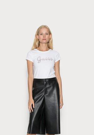 SPLIT SCRIPT LOGO - T-shirt con stampa - pure white