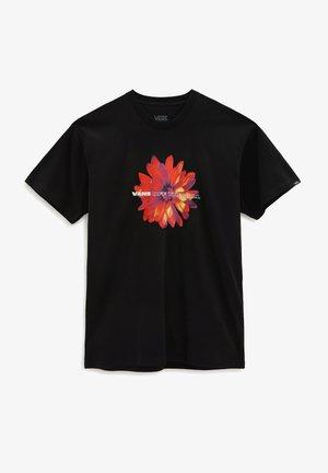 MN BLOOMING SS - Print T-shirt - black