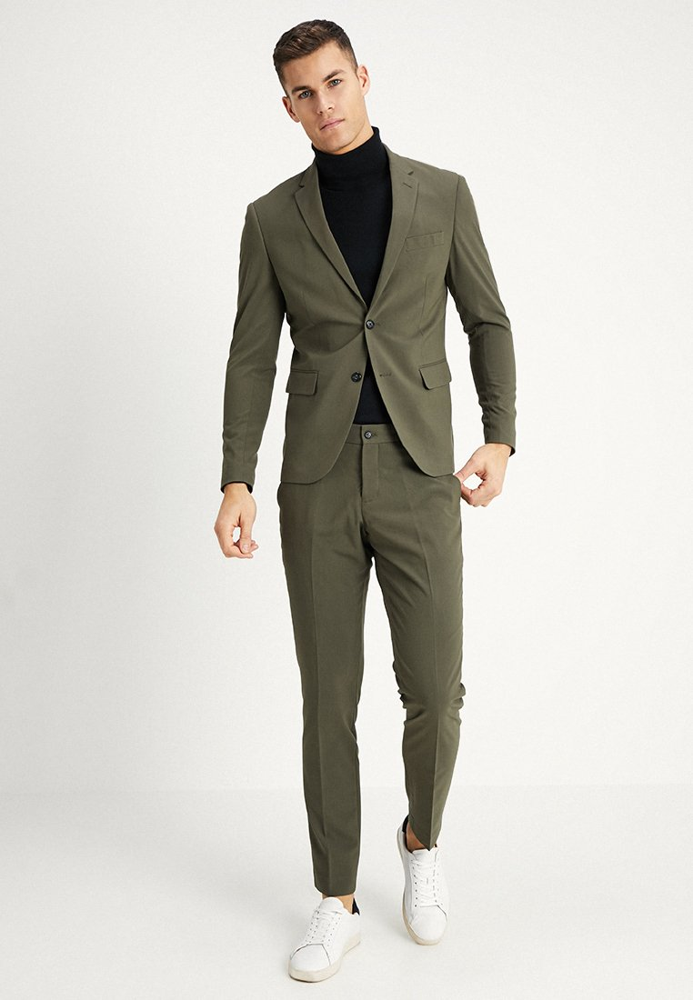 Lindbergh - PLAIN MENS SUIT - Kostuum - olive