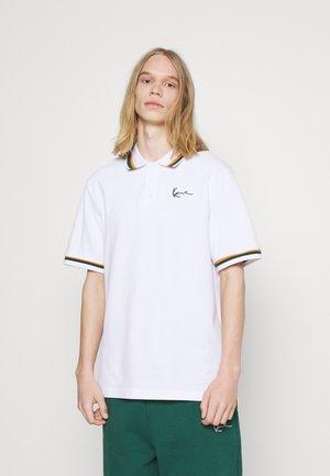 SMALL SIGNATURE TEE - Polo shirt - white