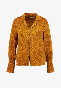 GHITA - Button-down blouse - sudan brown combi