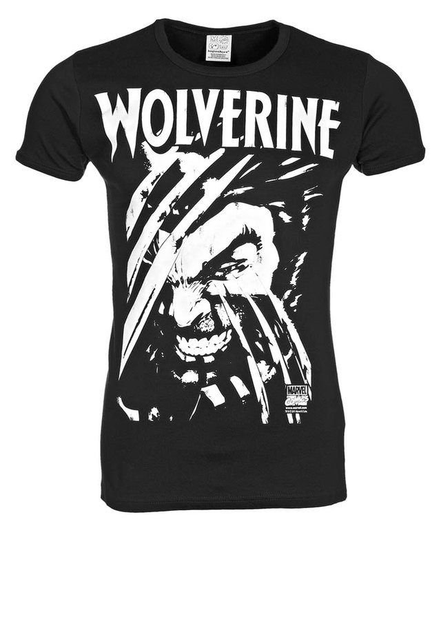 WOLVERINE - Print T-shirt - black