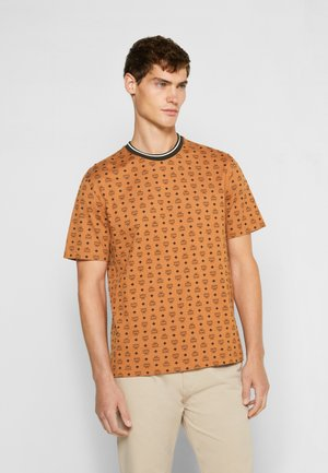 SHORT SLEEVES - T-shirt imprimé - cognac