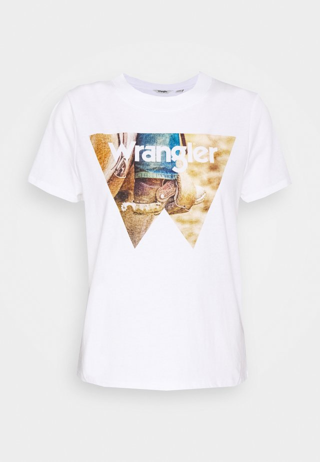 HIGH REGULAR TEE - Printtipaita - white