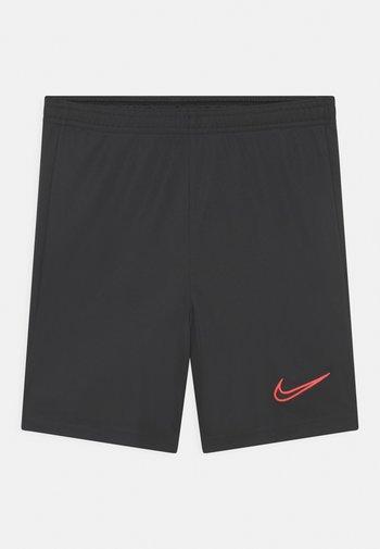 UNISEX - Sports shorts - black/bright crimson