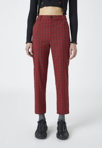 PULL&BEAR - Trousers - red - 0
