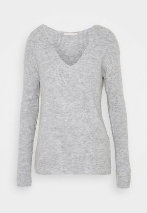 PCBABETT NECK  - Neule - light grey melange