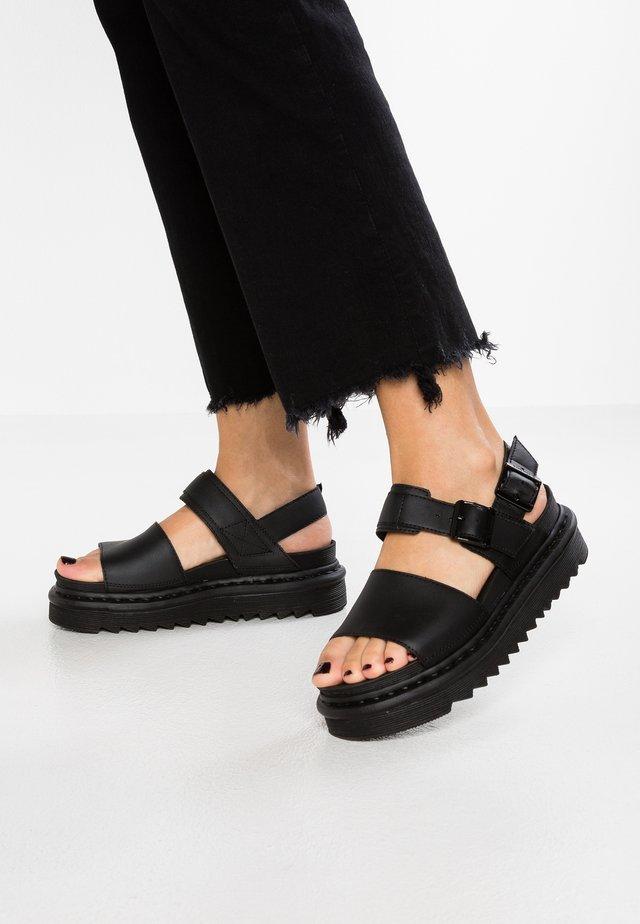 VOSS - Sandalen met plateauzool - black