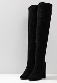 NA-KD - TIGHT SHAFT BLOCK BOOTS - Korolliset saappaat - black - 4