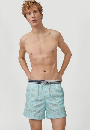 Swimming shorts - blue with grey