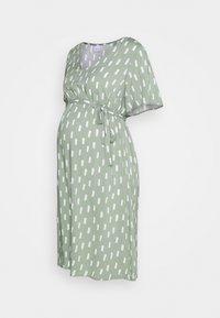 MAMALICIOUS - MLSTINE WOVEN DRESS - Sukienka z dżerseju - sea spray/aop snow white - 0