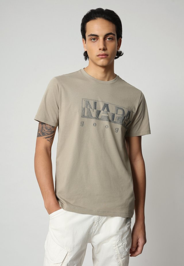 SALLAR LOGO - T-shirt con stampa - silver sage