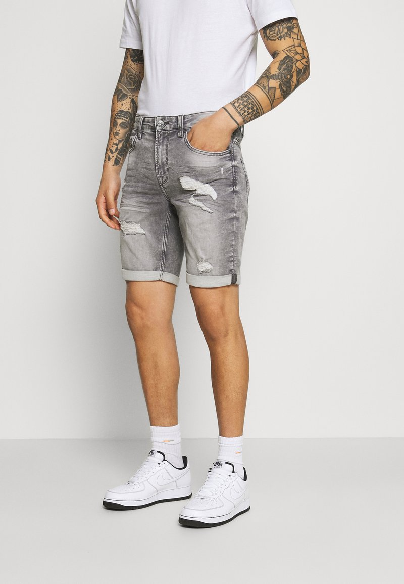 Only & Sons - ONSPLY LIFE SHORTS - Jeansshorts - grey denim