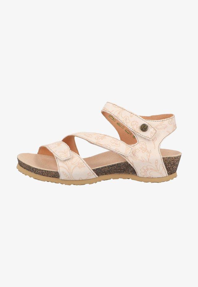 Sandales compensées - ivory