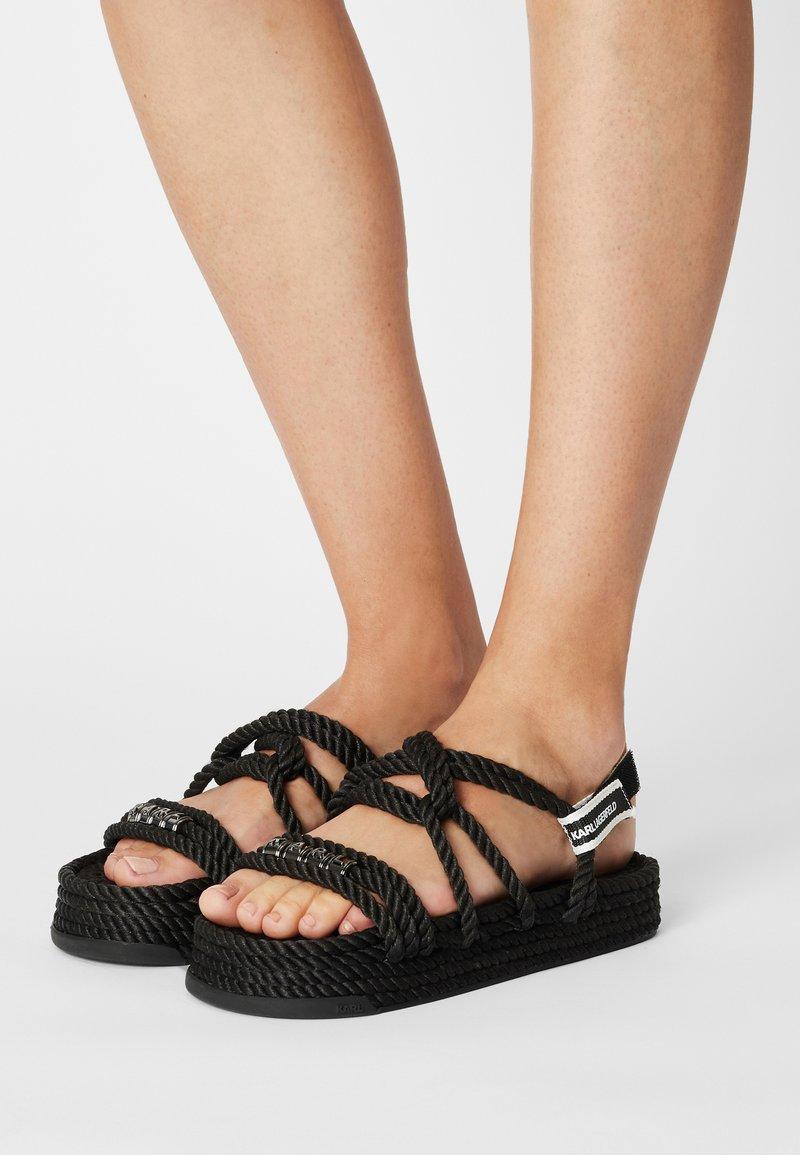 KARL LAGERFELD - RAPALLA ROPE - Platform sandals - black