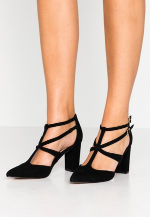 LEATHER PUMPS - Tacones - black
