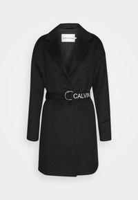 Calvin Klein Jeans - PATTERNED COAT - Classic coat - black - 0