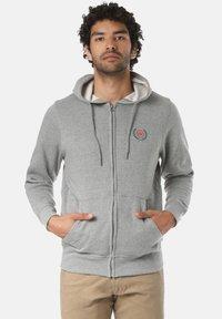 Young and Reckless - CREST  - Zip-up sweatshirt - grey - 0