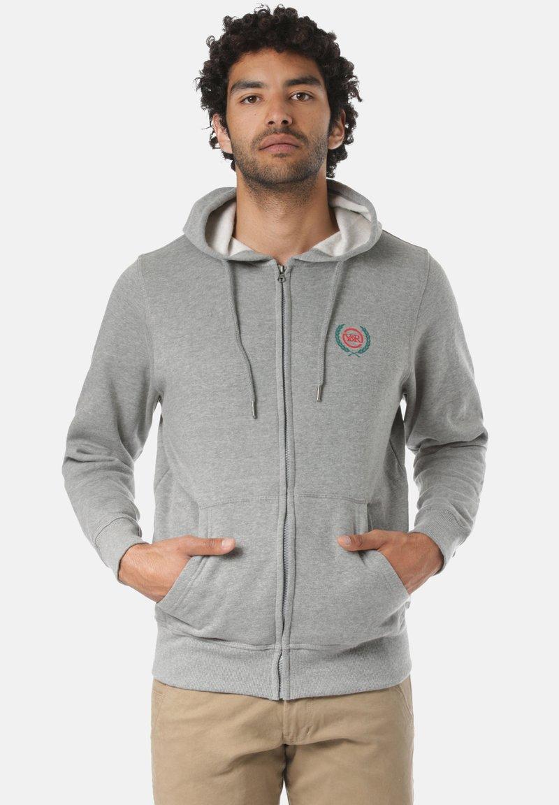 Young and Reckless - CREST  - Zip-up sweatshirt - grey