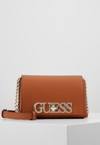 Guess - UPTOWN CHIC MINI XBODY FLAP - Borsa a tracolla - cognac - 0