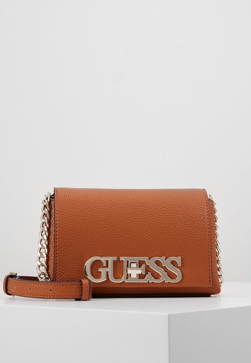 Guess - UPTOWN CHIC MINI XBODY FLAP - Borsa a tracolla - cognac