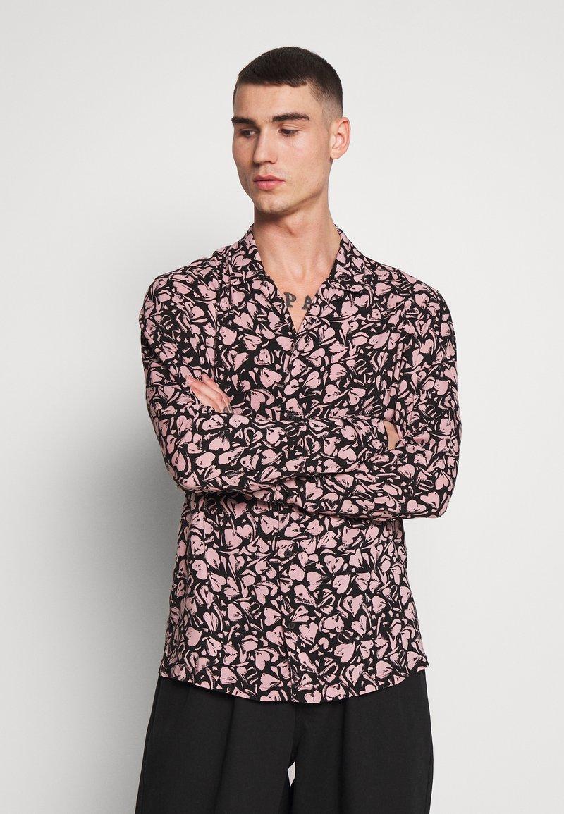 AllSaints - HEARTBREAK - Camicia - black/granite pink