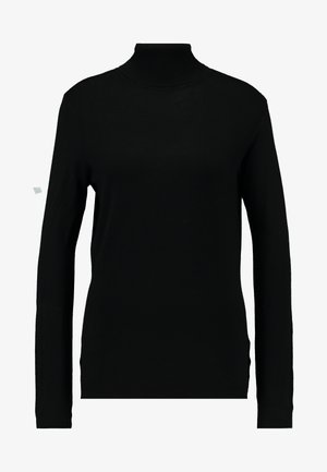 VIBOLONIA KNIT ROLLNECK TOP-NOO - Strikkegenser - black