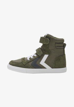 High-top trainers - olive night