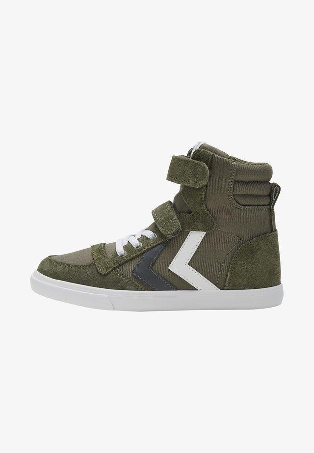 Sneakers hoog - olive night