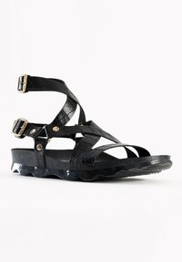 BAYTON - Sandalen met enkelbandjes - black - 1